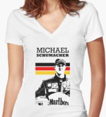 Michael Schumacher Germany - W Women's Fitted V-Neck T-Shirt
