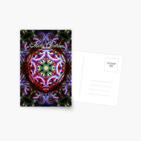 Christmas Fractalart Card Postcard