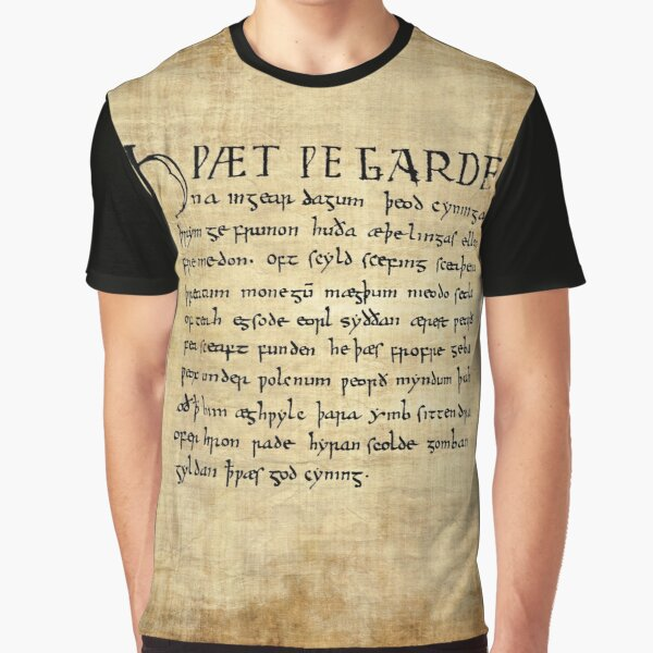 Beowulf Lines 1-11 Graphic T-Shirt