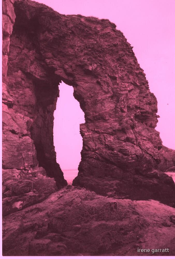 The rock of Perinporth by irene garratt
