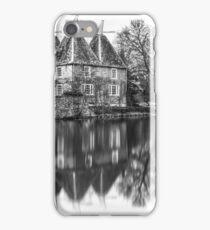 Kent Oast House black and white iPhone Case/Skin