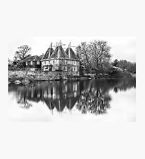 Kent Oast House black and white Photographic Print