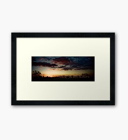 Nature's Lightshow! Framed Print