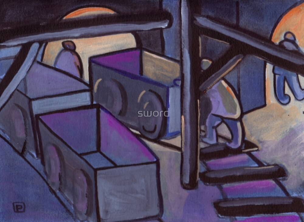 Coal tubs from my original acrylic painting) by sword