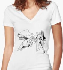 tattoo Women's Fitted V-Neck T-Shirt