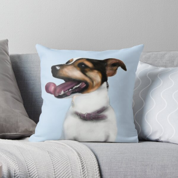 Smartie Jack Russell Terrier Design Throw Pillow