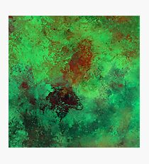 Isolation (Blue and green abstract painting) Photographic Print