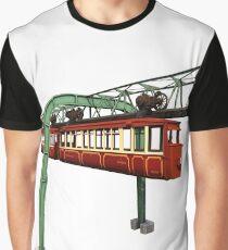 Kaiserwagen Schwebebahn Wuppertal Vintage Grafik T-Shirt