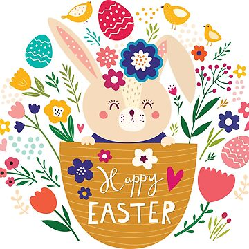 Bunny In A Basket Easter  by FashionNation