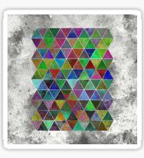 Textured Triangles Sticker