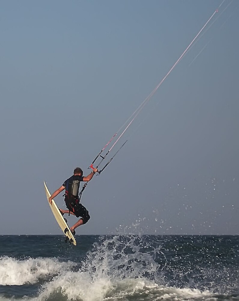 Kite surfing by David James