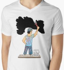 T-Shirt Painter !! Men's V-Neck T-Shirt