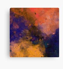 Inner Peace (Abstract orange, blue and red painting) Canvas Print