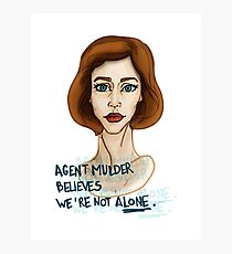 SCULLY 1 Photographic Print