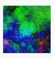 Awaken (Abstract, blue and green painting) Photographic Print