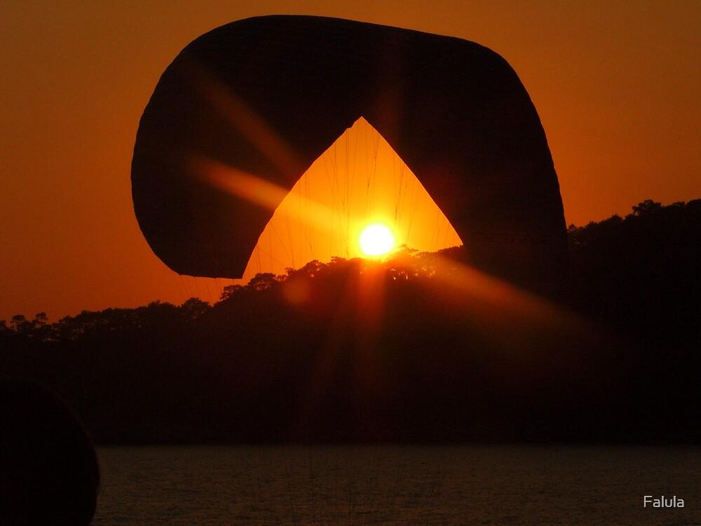 Paragliding sunset by Falula