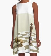 Chess kings on a chessboard A-Line Dress