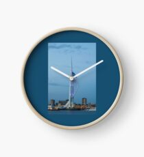 Spinnaker Tower, Portsmouth, south of England. Uk.  Clock