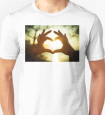 Hands combined by heart T-Shirt