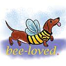 Art of Dachshund - Dachshund Lover - Bee Loved by dvampyrelestat