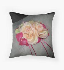 Tia Monica wedding headpiece- wedding art  Throw Pillow