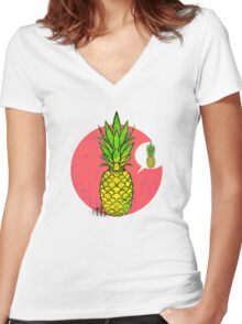 Conceited Pineapple Women's Fitted V-Neck T-Shirt