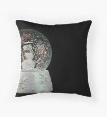 Christmas Snow Globe Throw Pillow