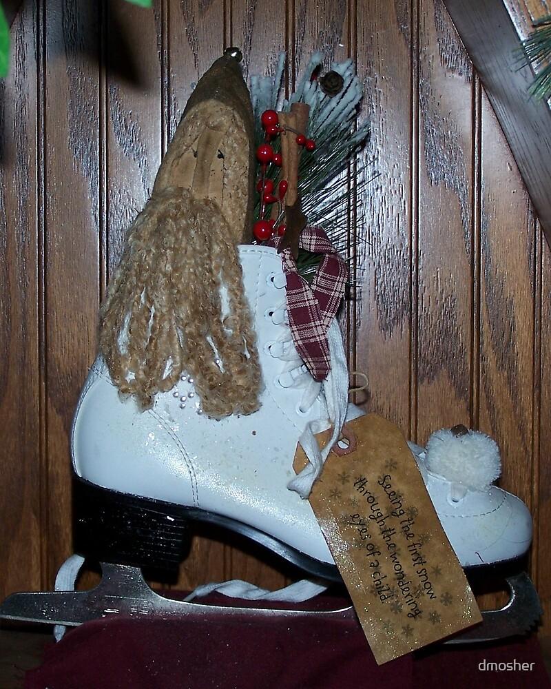 Santa In Skate  Christmas Card by dmosher