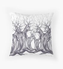 Oak, natural, background, design, illustration, tree Throw Pillow