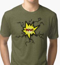 POW Caption Cushion Cover Tri-blend T-Shirt