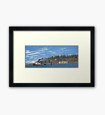Newport Oregon - Yaquina Bay Traffic Framed Print