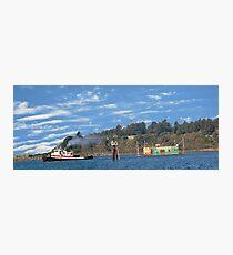 Newport Oregon - Yaquina Bay Traffic Photographic Print