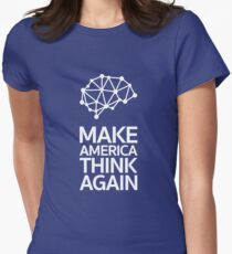 Make America Think Again Women's Fitted T-Shirt