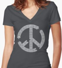 Puzzle Peace Women's Fitted V-Neck T-Shirt