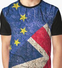 United Kingdom EU Europe Flag Mix Graphic T-Shirt