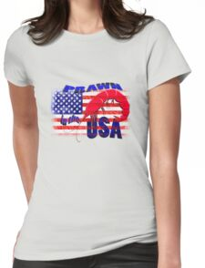 Prawn in the USA Womens Fitted T-Shirt