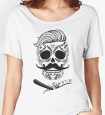 Barber Sugar Skull Women's Relaxed Fit T-Shirt