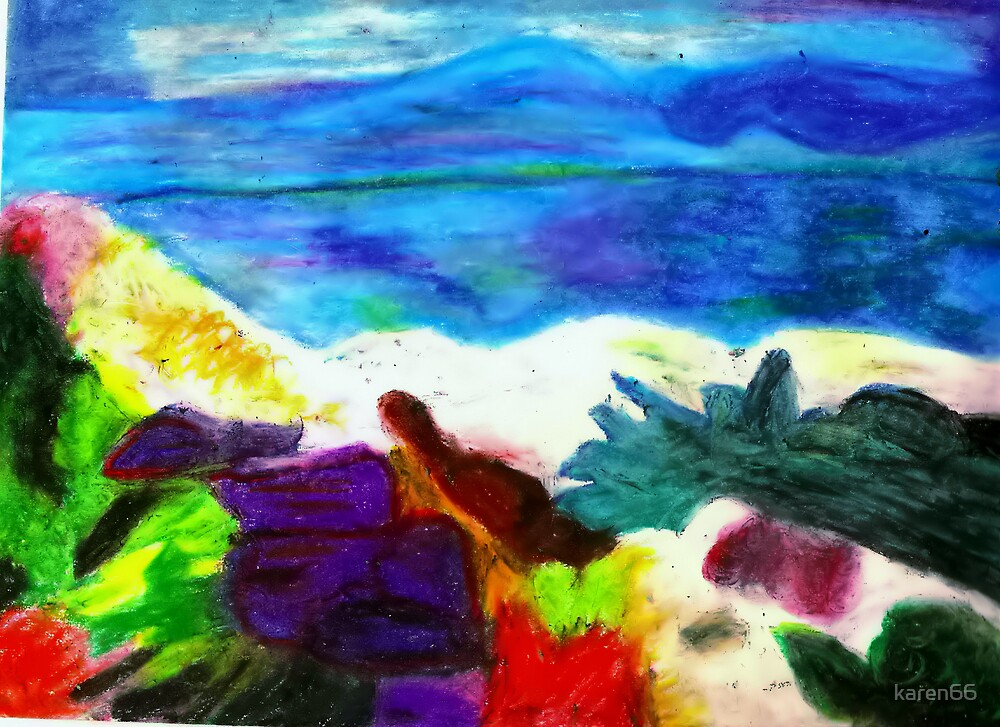 Mountainside Beach by karen66