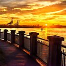 Sunrise at the harbor by John Poon