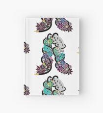 Immer noch Nacht Analog Flower Design Notizbuch