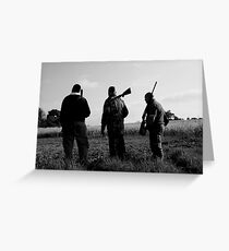 Gone Shooting Greeting Card