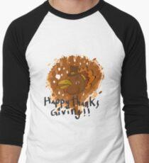 Angry Bird Turkey Men's Baseball ¾ T-Shirt