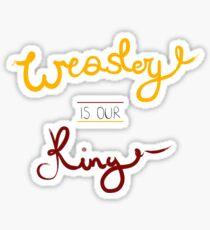 King Weasley Sticker