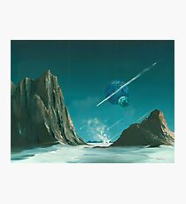 UPON A COMET IT COMES Photographic Print