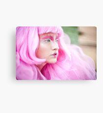 fashion bw film girls art pink Canvas Print