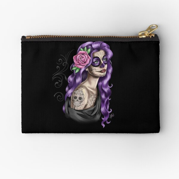 Day of the Dead Girl Zipper Pouch