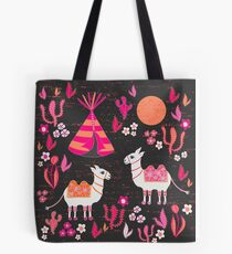 Camels on Holiday in Cactus Land Tote Bag