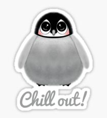 CHILL OUT PENGUIN CHICK Sticker