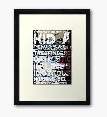 Radiohead - Kid A Album Song List Design #1 Framed Print