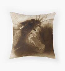 Furry Viper Throw Pillow